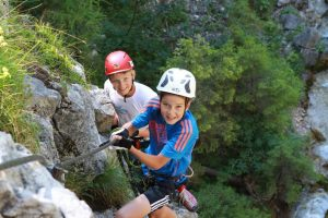 Verschiedene Klettersteige